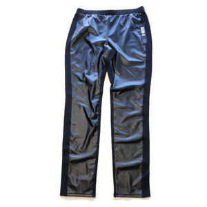 Nicole Miller Ponte Pleather Mixed Black Pants NWT